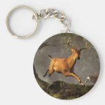 Leaping Stag Keychain