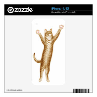 Leaping Tabby Cat Zazzle Skin Skins For iPhone 4