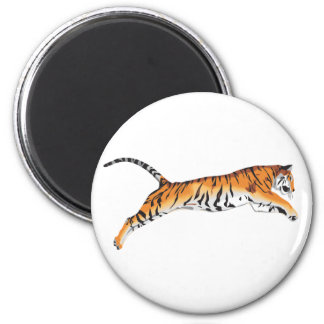 Leaping Tiger 2 Inch Round Magnet