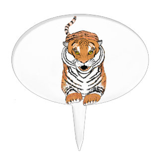 Leaping Tiger Cake Toppers