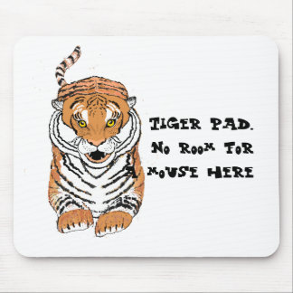 Leaping Tiger Mouse mat, no room for a mouse. Mouse Pad