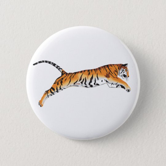 Leaping Tiger Pinback Button