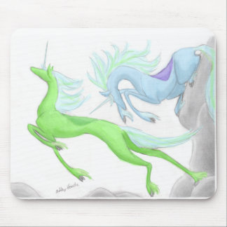Leaping Unicorns Mouse Pad
