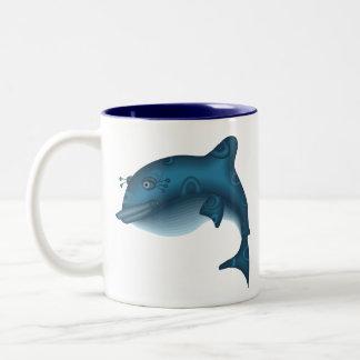 Leaping Whale Gift Two-Tone Coffee Mug