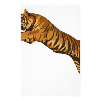 Leaping Wild Tiger Custom Stationery