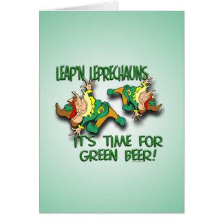 Leap'n Leprechauns Card