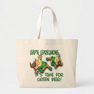 Leap'n Leprechauns Large Tote Bag