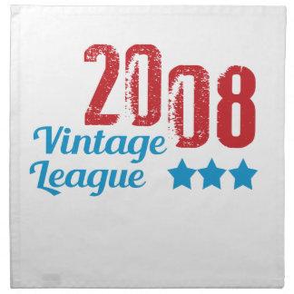 leaque 2008 del vintage servilletas