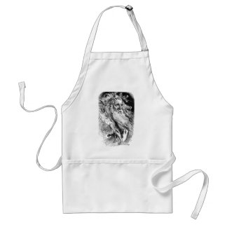 Lear Fantastically Dressed with Flowers Adult Apron