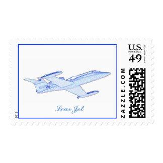 Lear Jet Postage Stamps