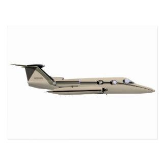 Learjet 23 postcard