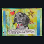 """LEARN A LESSON FROM YOUR DOG PLACEMAT<br><div class=""""desc"""">BAD GIRL ART PLACEMAT</div>"""