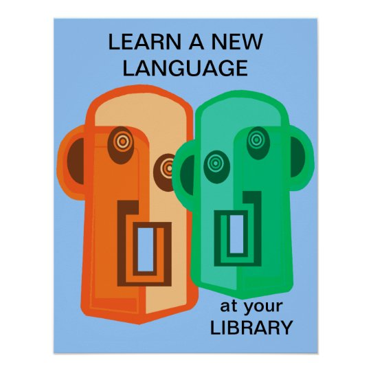 Learn a new language poster
