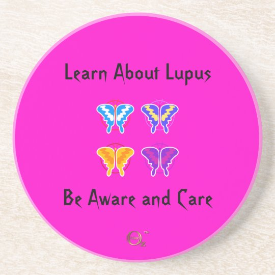 Learn About Lupus - Be Aware and Care Sandstone Coaster
