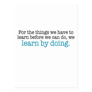 Learn by Doing Postcard