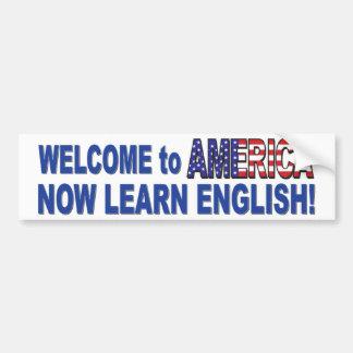 Learn-English-White Bumper Sticker