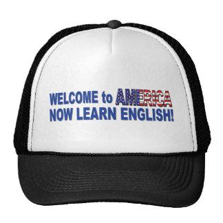 Learn-English-White Trucker Hat
