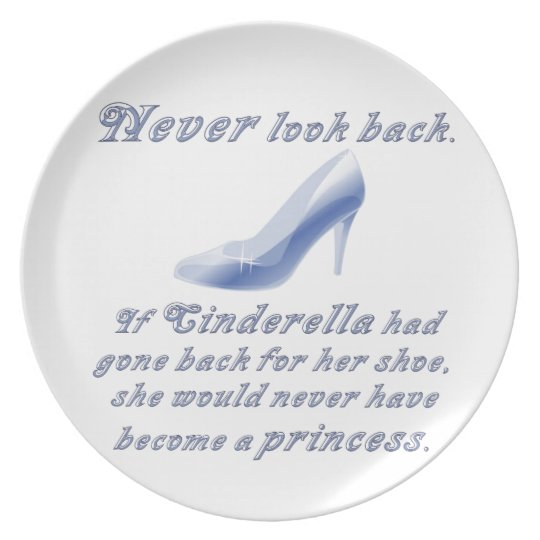 Learn from Cinderella's Shoe Dinner Plate