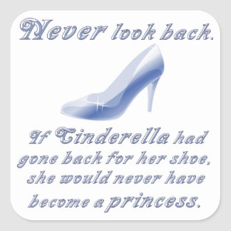 Learn from Cinderella's Shoe Square Sticker