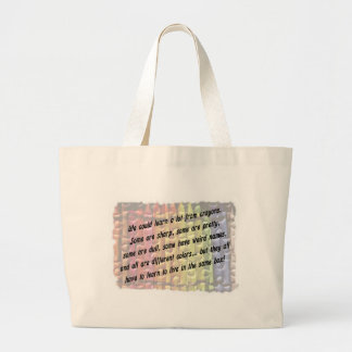 learn from crayons bag