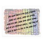 learn from crayons postcards