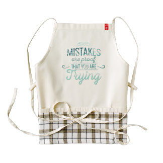 Learn from mistakes motivational typography quote zazzle HEART apron