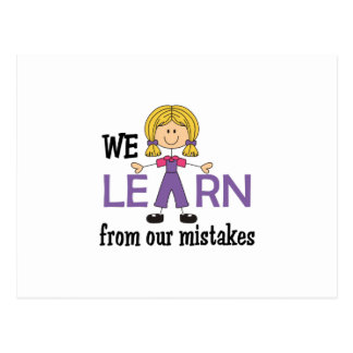 LEARN FROM MISTAKES POSTCARD