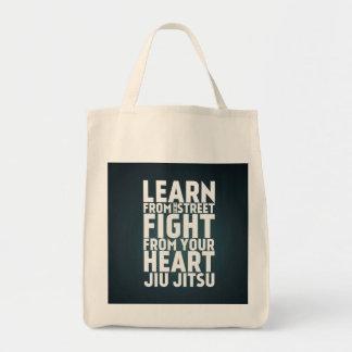 Learn from the street Jiu Jitsu black Canvas Bag