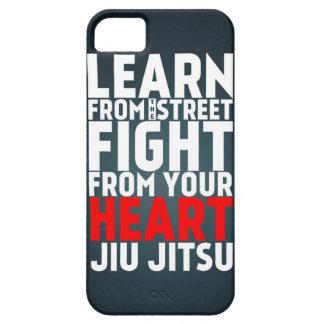 Learn from the street Jiu Jitsu black iPhone 5 Covers