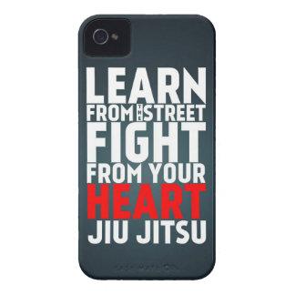 Learn from the street Jiu Jitsu black iPhone 4 Case