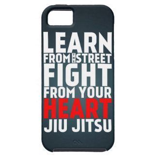 Learn from the street Jiu Jitsu black iPhone SE/5/5s Case