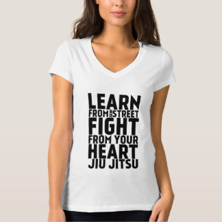 Learn from the street Jiu Jitsu black T-Shirt
