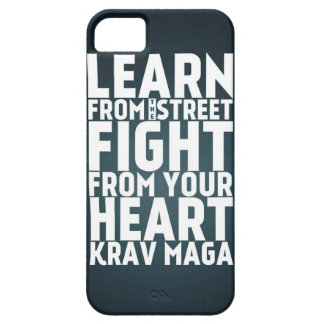 Learn from the Street Krav Maga black iPhone 5 Covers