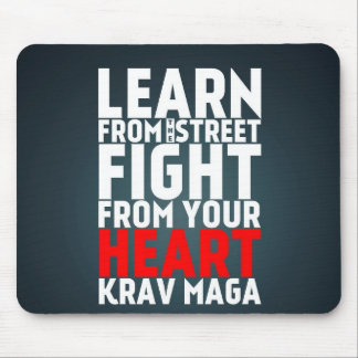 Learn from the Street Krav Maga black Mouse Pad