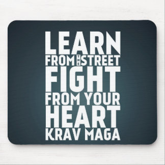 Learn from the Street Krav Maga black Mousepad