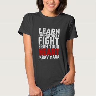 Learn from the Street Krav Maga black Shirts