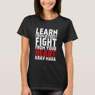 Learn from the Street Krav Maga black T-Shirt