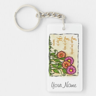 Learn From Yesterday Keychain