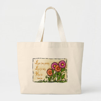 Learn From Yesterday Large Tote Bag