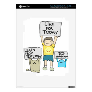 Learn From Yesterday, Live for today, Hope for Tml Decals For iPad 3