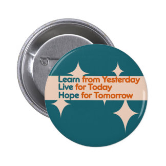 Learn from Yesterday Pinback Button