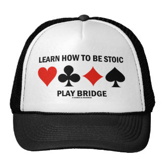 Learn How To Be Stoic Play Bridge (Card Suits) Hat