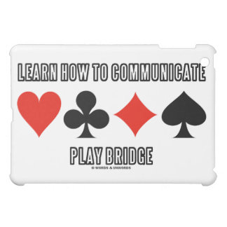 Learn How To Communicate Play Bridge iPad Mini Cases