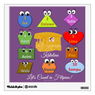 Learn how to count in Tagalog Wall Decal