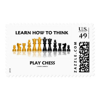 Learn How To Think Play Chess (Chess Attitude) Stamps