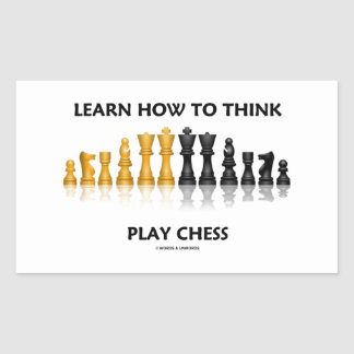 Learn How To Think Play Chess Reflective Chess Set Rectangular Sticker