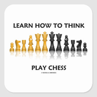 Learn How To Think Play Chess Reflective Chess Set Square Sticker