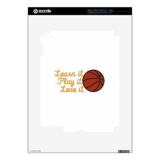 Learn It Basketball iPad 2 Skin