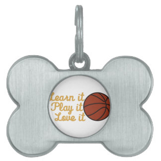 Learn It Basketball Pet Tag