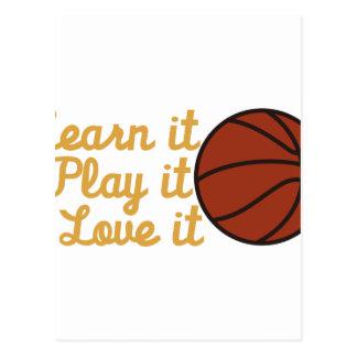 Learn It Basketball Postcard